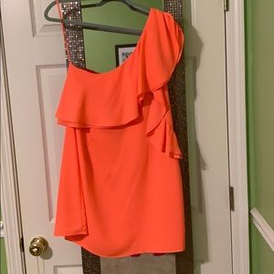 Sugar + Lips Orange Shift Dress
